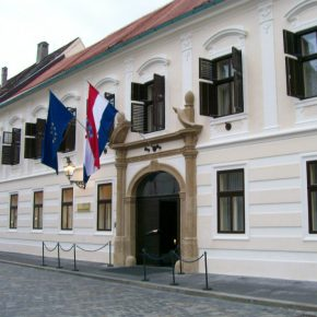 Croatia government headquarters Zagreb square