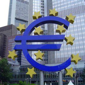 ECB and euro sign kwadrat