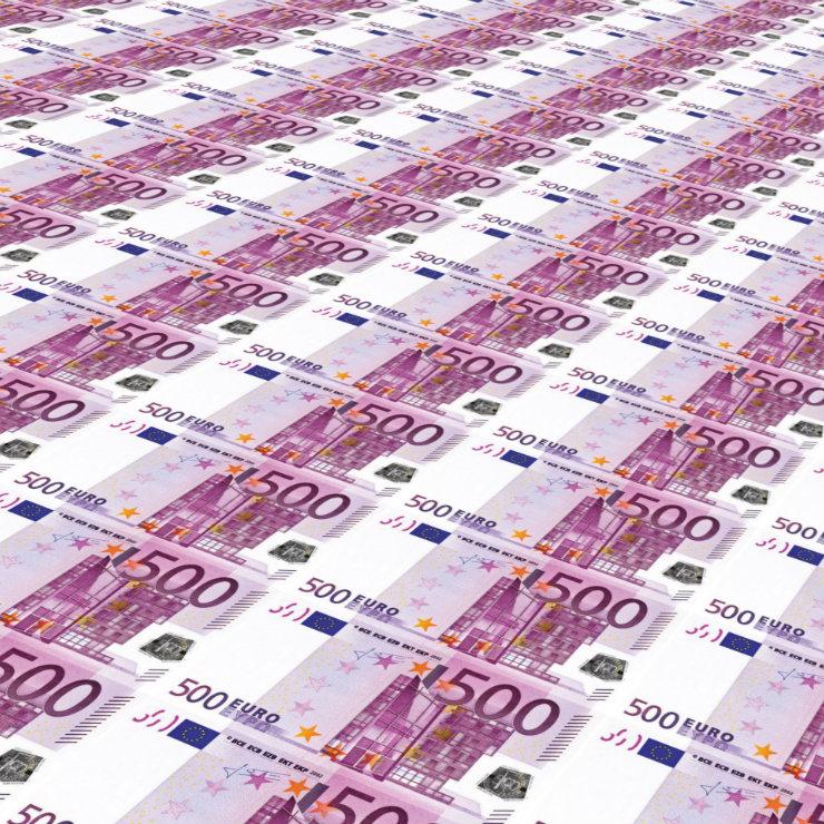 EUR 500 kwadrat