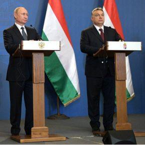 Hungary Orban and Putin kwadrat