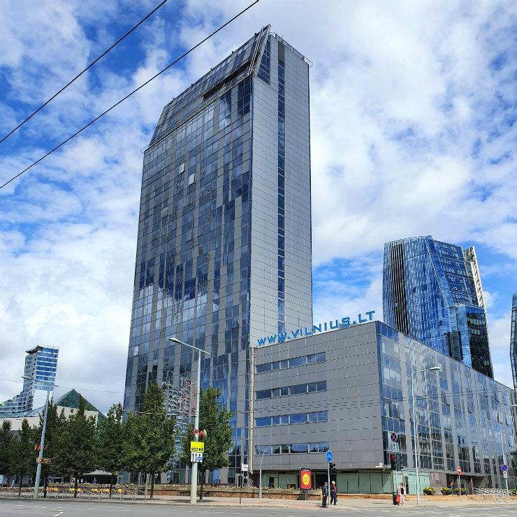 Lithuania business center Vilnius square
