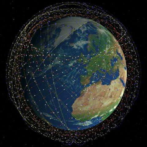 Low orbit satelites square