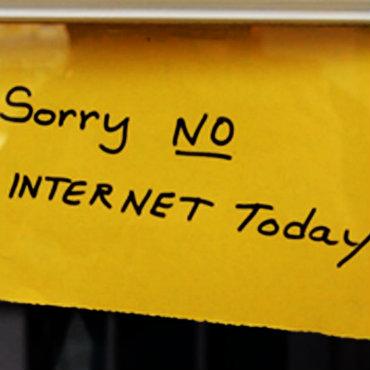 No internet today kwadrat