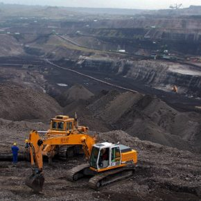Poland Turow coal mine kwadrat