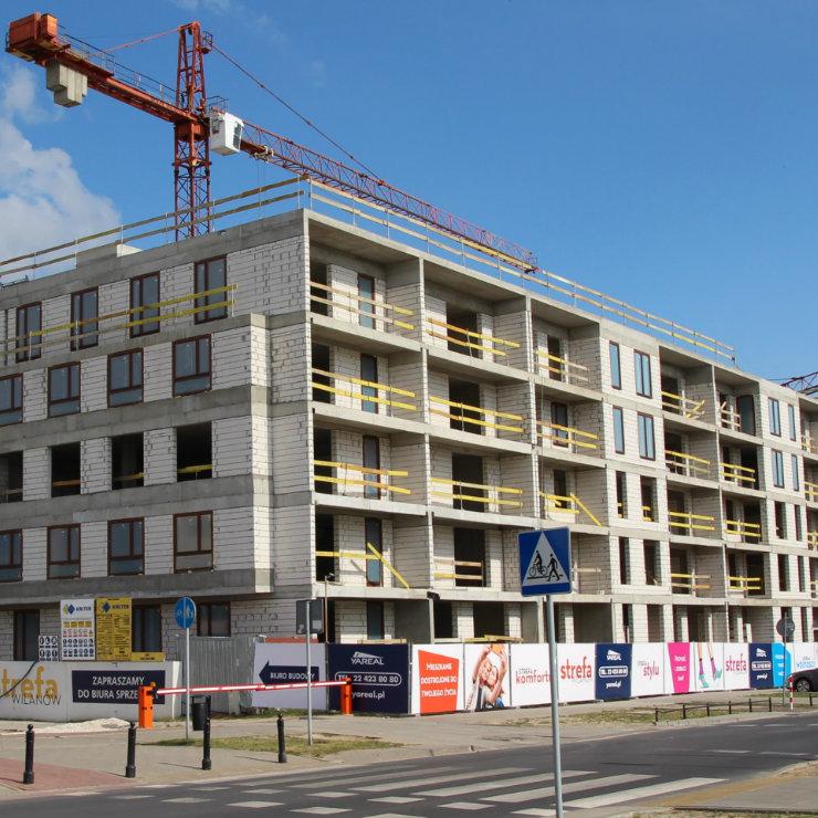 Poland Warsaw Wilanow construction square