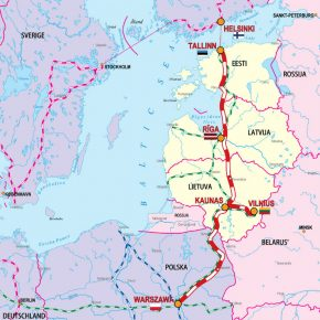 Rail Baltica with the European Union funding