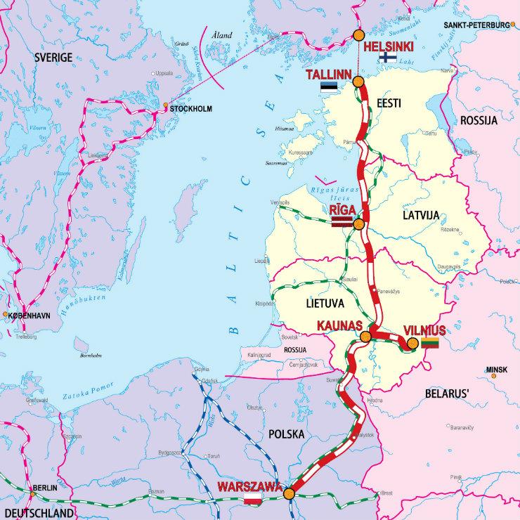 Rail Baltica with the European Union funding