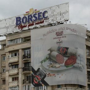 Romania Bucharest advertising kwadrat