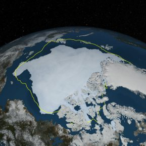 The Arctic ice doesn't melt uniformly