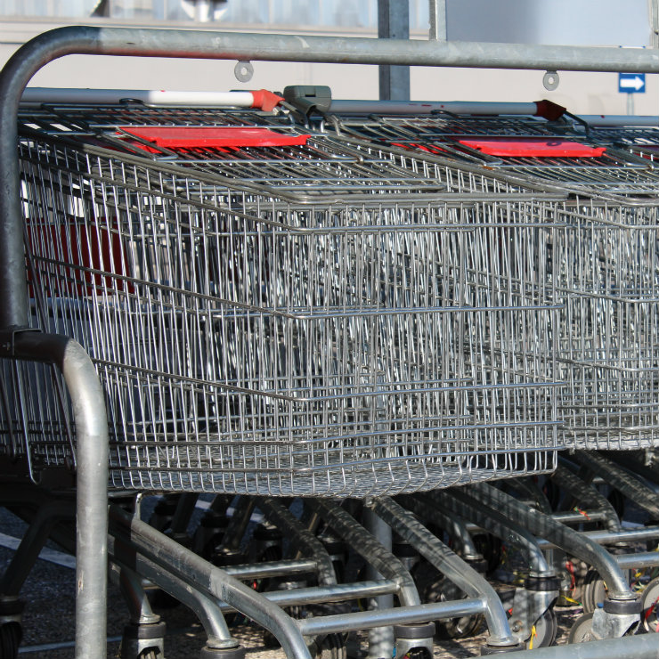 Supermarket trolleys square