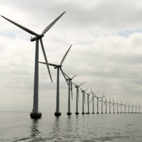 Wind farm offshore kwadrat