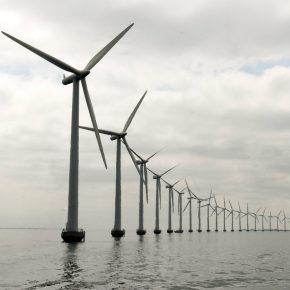 Wind farm offshore kwadrat