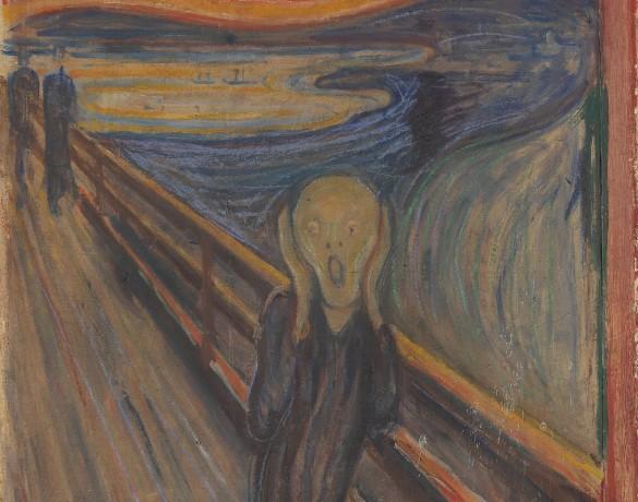 Krzyk, Edvard Munch (National Gallery of Norway, domena publiczna)