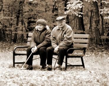 Poland old people park Lodz MAIN