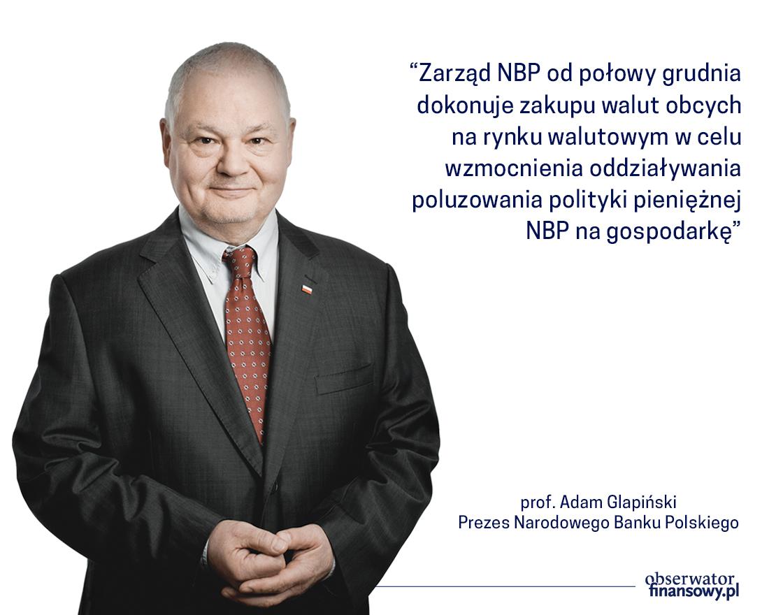 Prezes NBP: w I kw 2021 możliwe dalsze obniżenie stóp proc.