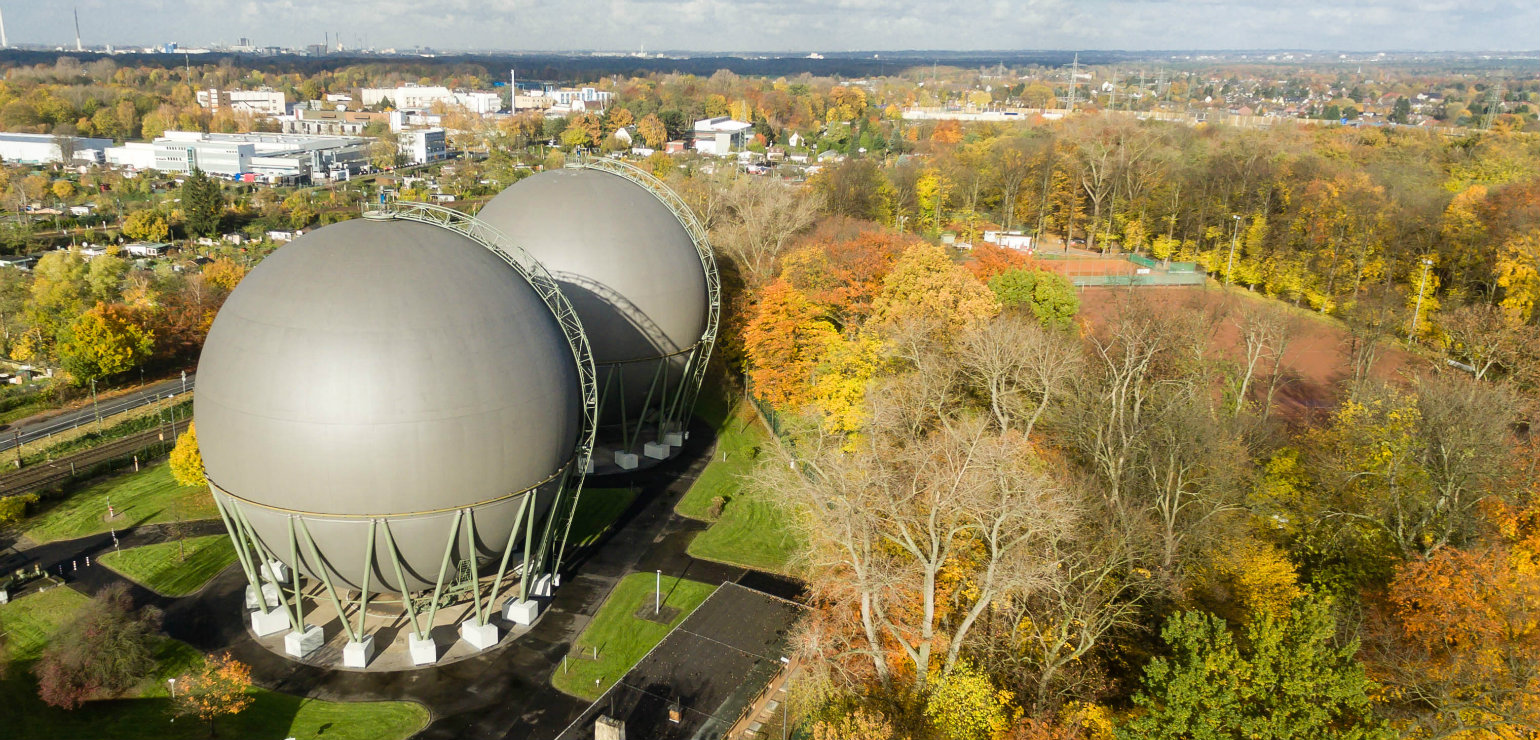 Gas tanks in Buchheim, Cologne (Marco Verch, CC BY)